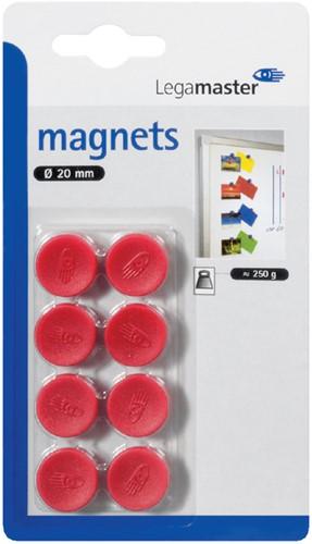 MAGNEET LEGAMASTER 20MM 250GR ROOD 8 Stuk