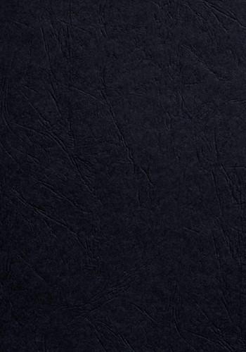 VOORBLAD GBC A4 KARTON LEDERLOOK 250GR ZWART 100 STUK