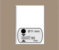 DRAADRUG GBC 11MM 34RINGS A4 ZWART 100 STUK
