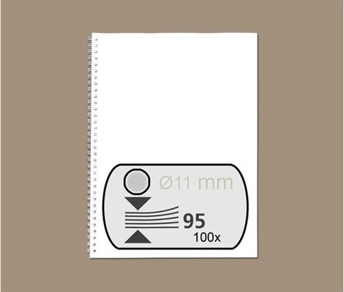 DRAADRUG GBC 11MM 34RINGS A4 ZILVER 100 STUK