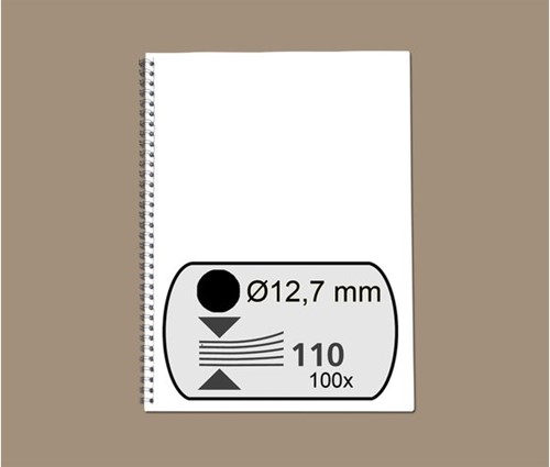 DRAADRUG GBC 12.7MM 34RINGS A4 ZWART 100 STUK