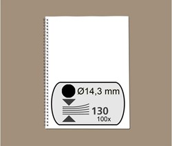 DRAADRUG GBC 14.3MM 34RINGS A4 ZWART 100 STUK