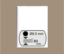 DRAADRUG GBC 9.5MM 34RINGS A4 ZWART 100 STUK