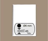 DRAADRUG GBC 6MM 34RINGS A4 ZWART 100 STUK