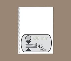DRAADRUG GBC 6MM US 21RINGS A4 ZILVER 100 STUK