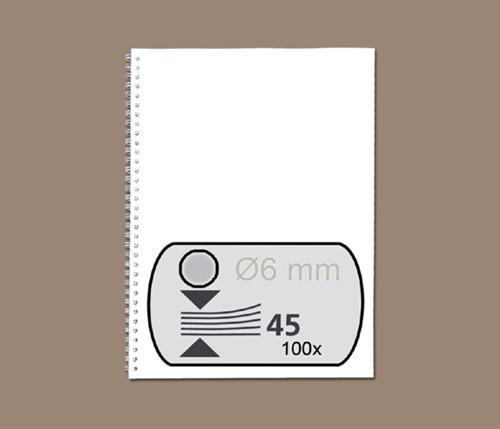 DRAADRUG GBC 6MM 34RINGS A4 ZILVER 100 STUK
