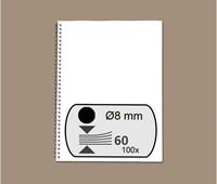 DRAADRUG GBC 8MM 34RINGS A4 ZWART 100 STUK