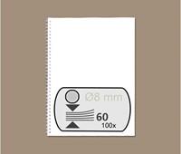 DRAADRUG GBC 8MM US 21RINGS A4 ZILVER 100 STUK