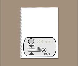 DRAADRUG GBC 8MM 34RINGS A4 ZILVER 100 STUK