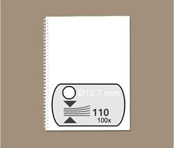 DRAADRUG GBC 12.7MM 34RINGS A4 WIT 100 STUK