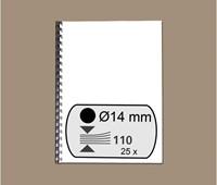 BINDRUG FELLOWES 14MM 21RINGS A4 ZWART 25 STUK-2