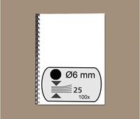 BINDRUG FELLOWES 6MM 21RINGS A4 ZWART 100 STUK-2