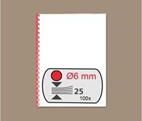 BINDRUG GBC 6MM 21RINGS A4 ROOD 100 STUK-2