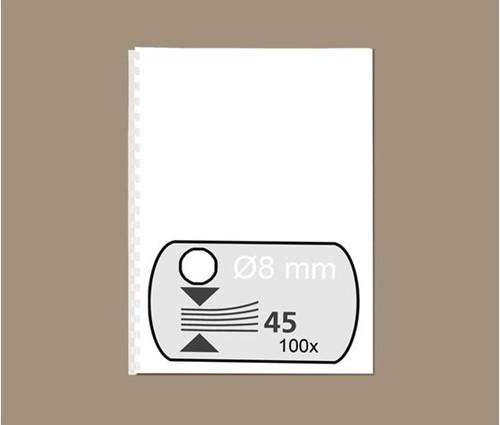 BINDRUG GBC 8MM 21RINGS A4 WIT 100 STUK-2