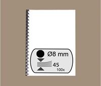 BINDRUG GBC 8MM 21RINGS A4 ZWART 100 STUK-2