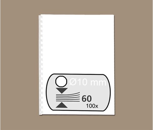 BINDRUG FELLOWES 10MM 21RINGS A4 WIT 100 STUK-2