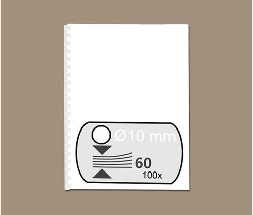 BINDRUG GBC 10MM 21RINGS A4 WIT 100 STUK-2