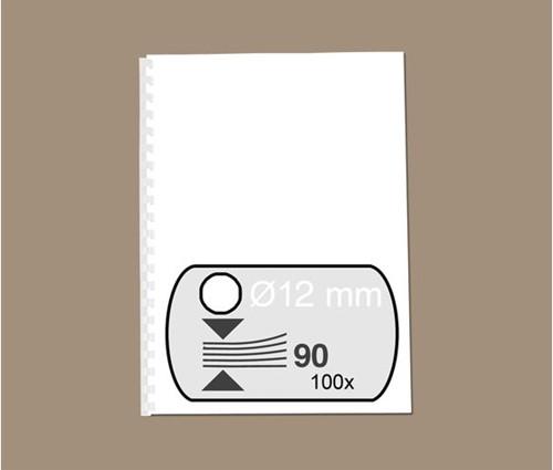 BINDRUG FELLOWES 12MM 21RINGS A4 WIT 100 STUK-2