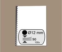 BINDRUG FELLOWES 12MM 21RINGS A4 ZWART 100 STUK-2