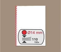 BINDRUG GBC 14MM 21RINGS A4 ROOD 100 STUK-2