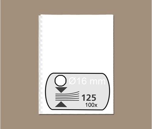 BINDRUG FELLOWES 16MM 21RINGS A4 WIT 100 STUK-2