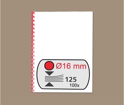 BINDRUG GBC 16MM 21RINGS A4 ROOD 100 STUK-2