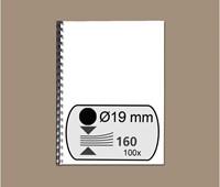 BINDRUG GBC 19MM 21RINGS A4 ZWART 100 STUK-2