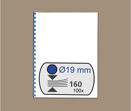 BINDRUG GBC 19MM 21RINGS A4 BLAUW 100 STUK-2