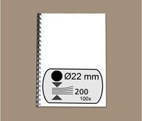 BINDRUG GBC 22MM 21RINGS A4 ZWART 100 STUK-2
