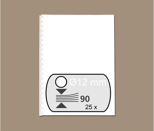 BINDRUG FELLOWES 12MM 21RINGS A4 WIT 25 STUK-2