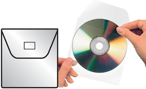 CD HOES 3L 6832-100 127X127MM MET KLEP ZELFKLEVEND 100 Stuk