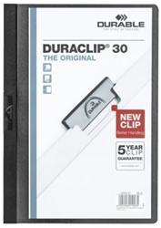 KLEMMAP DURABLE 2200 A4 PL/TR 3MM ZWART 1 STUK