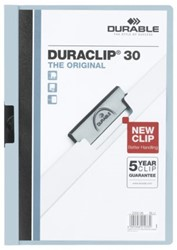 KLEMMAP DURABLE 2200 A4 PL/TR 3MM LICHTBLAUW 1 STUK