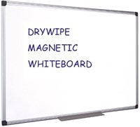 WHITEBOARD QUANTORE 90X120CM GELAKT 1 STUK