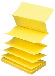 MEMOBLOK 3M POST-IT Z-NOTE R350 GEEL 100 VEL
