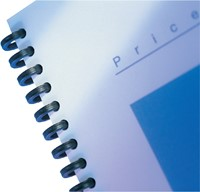 BINDRUG GBC 12MM 34RINGS A4 ZWART 50 STUK