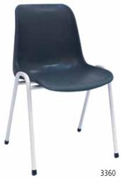 STOEL SOLID 3360 KUNSTSTOF KUIP ZONDER ARMLEGGERS